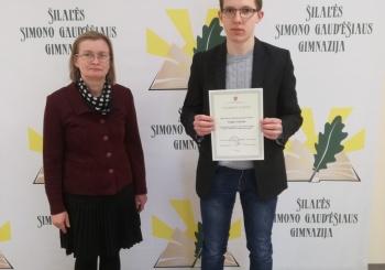 Sveikiname Lietuvos mokinių chemijos olimpiados dalyvį